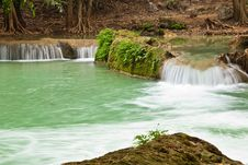 Free Waterfall Scene Of Thailand Royalty Free Stock Image - 18013336
