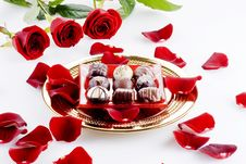 Free Chocolates And Roses Stock Image - 18013361