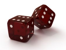 Free Two Red Dice Stock Photography - 18014362