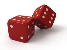Free Two Red Dice Royalty Free Stock Photos - 18014378