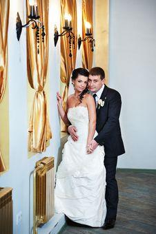 Free Elegant Bride And Groom In Luxury Interior Stock Image - 18014441