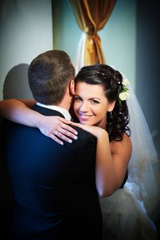Free Happy Bride And Groom In Wedding Day Stock Photo - 18014470