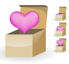 Free Pink Heart In The Box Royalty Free Stock Photo - 18014635