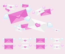 Free Flying Envelope Royalty Free Stock Photo - 18014925