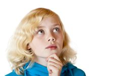 Free Young Beautiful Girl Looks Contemplative Stock Photography - 18015222