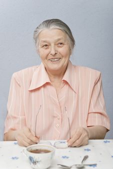 Free Nice Woman Sixty Years Smiling Stock Photography - 18015642