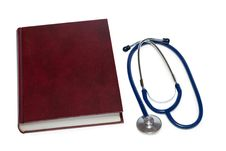 Free Stethoscope And A Book. Stock Photos - 18015943