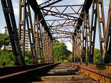 Free Deserted Railway Bridge Royalty Free Stock Photography - 18015987