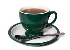Free Cup Of Tea And Spoon Royalty Free Stock Photography - 18016207