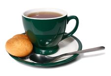 Free Cup Of Tea And Biscuit Royalty Free Stock Images - 18016229