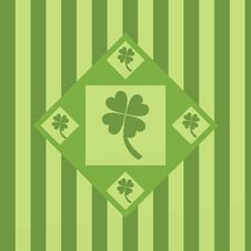 Free Cute Clover Background Royalty Free Stock Image - 18016806