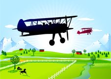 Free Biplane Royalty Free Stock Photography - 18016937