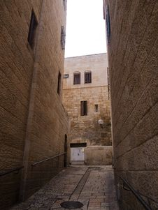 Free Israel - Jerusalem Old City Alley Stock Photography - 18017692