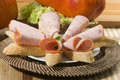 Free Galantine Of Chicken With Lettuce And Bread Stock Images - 18022424