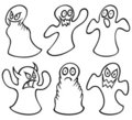Free Set Of Ghosts Royalty Free Stock Images - 18025459