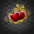 Free Card With A Hearts Stock Image - 18026551