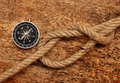 Free Compass And Rope Stock Images - 18028504
