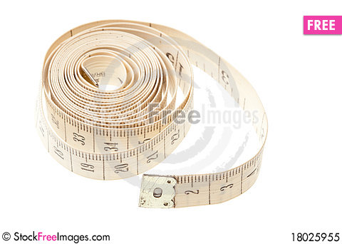 Free Light Measuring Tape Isolated Royalty Free Stock Photo - 18025955