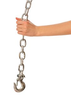 Chain With A Hook Royalty Free Stock Images