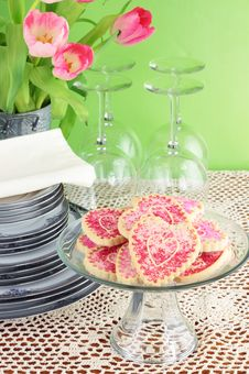 Free Valentine S Day Cookies Royalty Free Stock Photography - 18020837