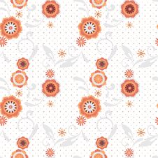 Free Seamless Floral Pattern White Background Royalty Free Stock Photo - 18021205