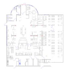 Free Blueprint Of A Commercial Building Made In CAD Royalty Free Stock Photos - 18021258