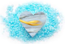 Free Blue Bath Salt And Sea. Royalty Free Stock Photos - 18021408