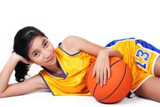Free Lady Basketball Player Royalty Free Stock Photos - 18022198