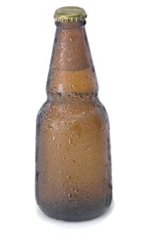 Free Yellow Beer Bottle Royalty Free Stock Photography - 18022537