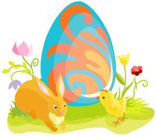 Free Beautiful Easter Card Stock Image - 18022621