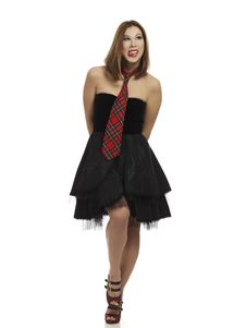 Free Cheeky Woman In Little Black Dress Stock Photo - 18022770
