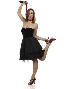 Free Cute Woman In Little Black Dress Stock Image - 18022821
