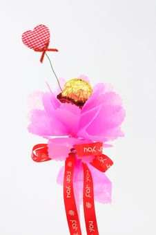 Free Pink Bouquet Paper Stock Images - 18024334