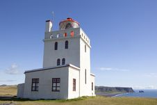 Most Beautiful Lighthouse At Dyrhólaey In Iceland Royalty Free Stock Photography