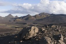 Free Central Iceland Sand And Mountains Royalty Free Stock Image - 18024636