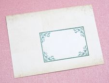 Free Ornate Old Envelope Royalty Free Stock Photo - 18025115