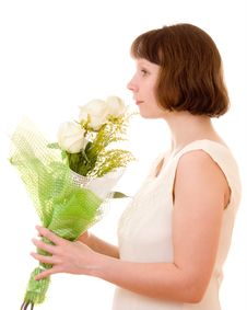 Free Girl With A Bouquet Stock Photography - 18026832