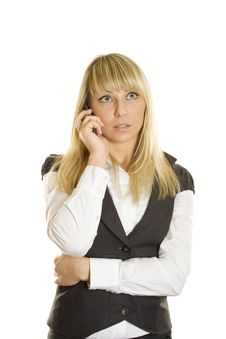 Free Business Woman Talking On The Phone Royalty Free Stock Photo - 18027355