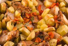 Free Baked Potato With Chicken Stock Photos - 18027513