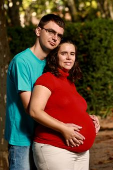 Free Expecting Couple On The Park Royalty Free Stock Photo - 18028165