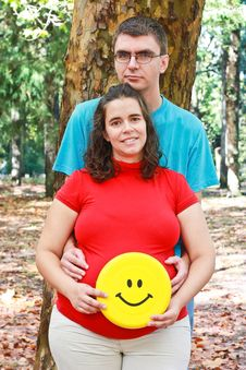Free Expecting Couple On The Park Royalty Free Stock Photos - 18028188