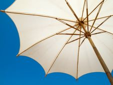 Free Under A White Umbrella Royalty Free Stock Photo - 18028505