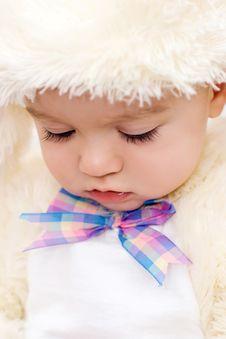 Free Pretty Caucasian Baby Portrait Royalty Free Stock Image - 18028586