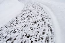 Free Snow Covered Pavement Background Royalty Free Stock Photo - 18029495