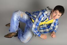 Free Stylish Young Man In Jeans Royalty Free Stock Photos - 18029528