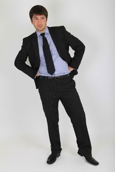 Man In A Business Suit In A Full Length Stock Photography