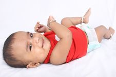 Free Smiling Indian Cute Baby Royalty Free Stock Photo - 18029845
