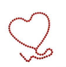 Symbol Heart Of Beads Stock Image