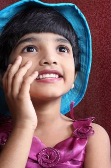 Free Portrait Of Indian Little Girl Stock Images - 18029964