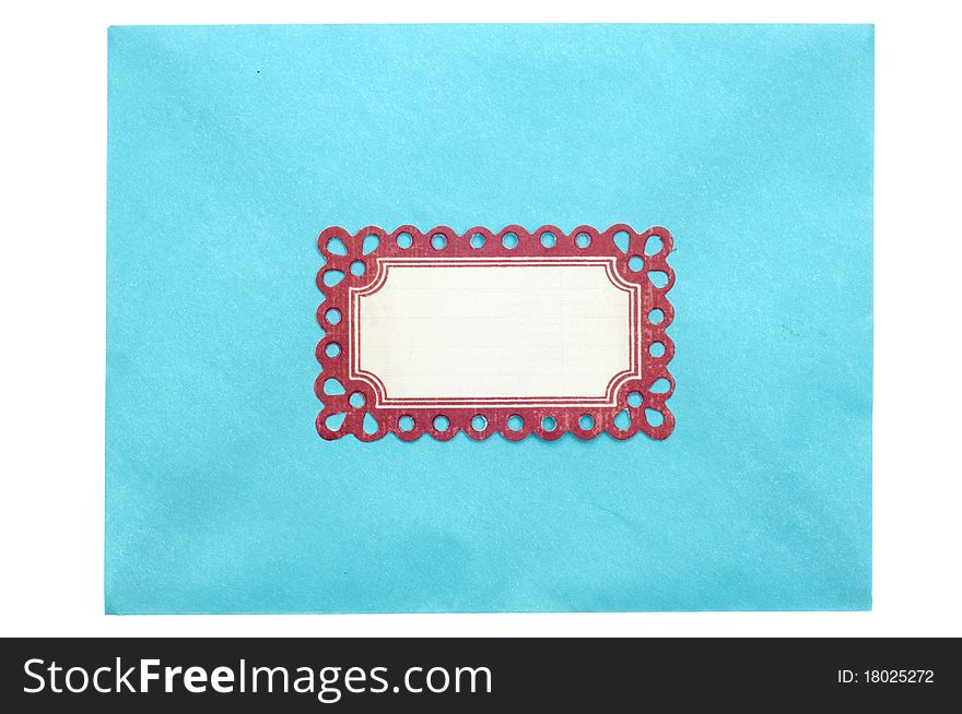 Envelope with Ornate Label